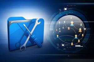 virage numérique bleu